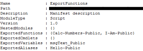 PowerShell Export functions, variables and aliases with wildcards
