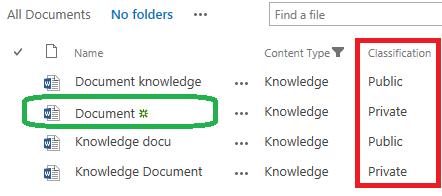 Classification - library no folders