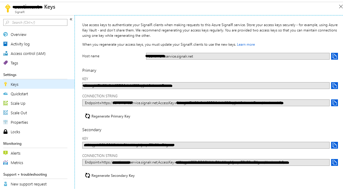 Notification – Azure SignalR – Sentiment of comments given on a